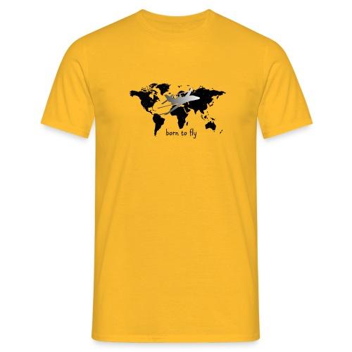 born to fly (Black Galaxy) - Männer T-Shirt