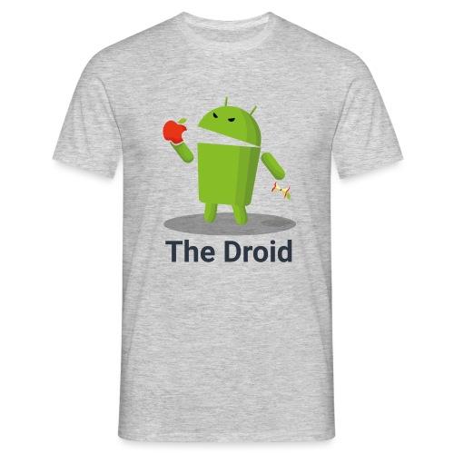 The Droid eats apple - Maglietta da uomo