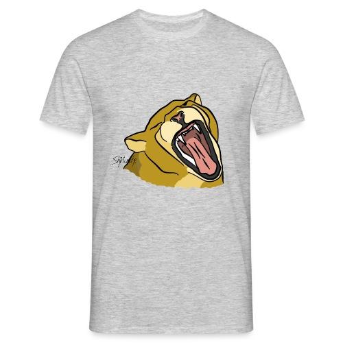 Gähnender / brüllender Löwe - Männer T-Shirt