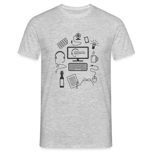 survivalKit-schw - Männer T-Shirt