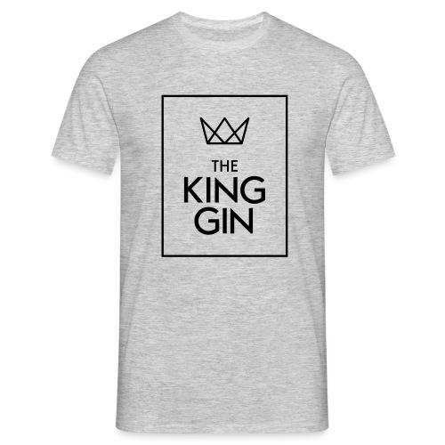 The King Gin Logo schwarz RGB Rahmen - Männer T-Shirt