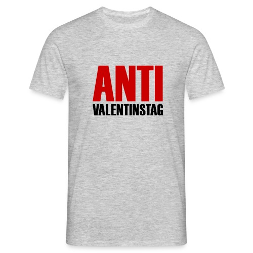 Anti Valentinstag Logo - Männer T-Shirt