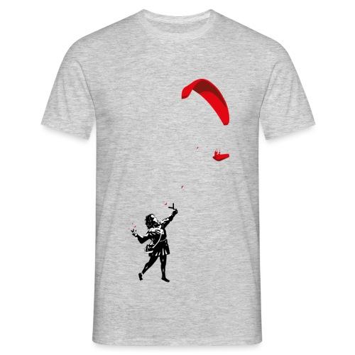 Mädchen mit Gleitschirm - Männer T-Shirt
