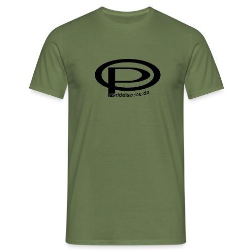 Paddelszene Logo schwarz - Männer T-Shirt