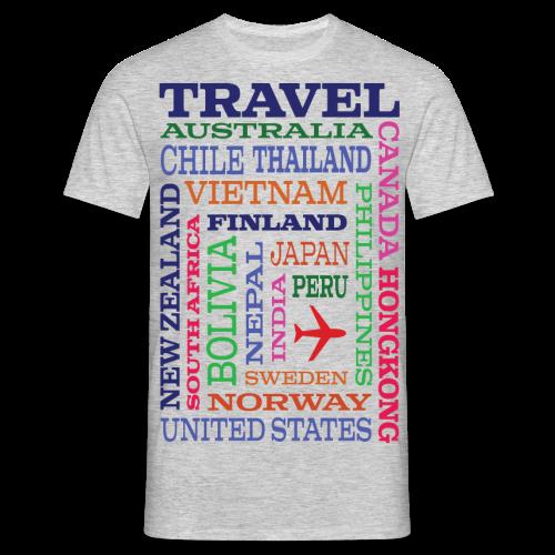 Travel Places design - Miesten t-paita