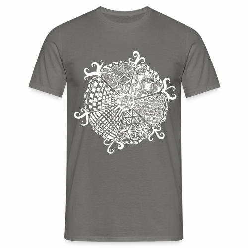 Blume weiss - Männer T-Shirt