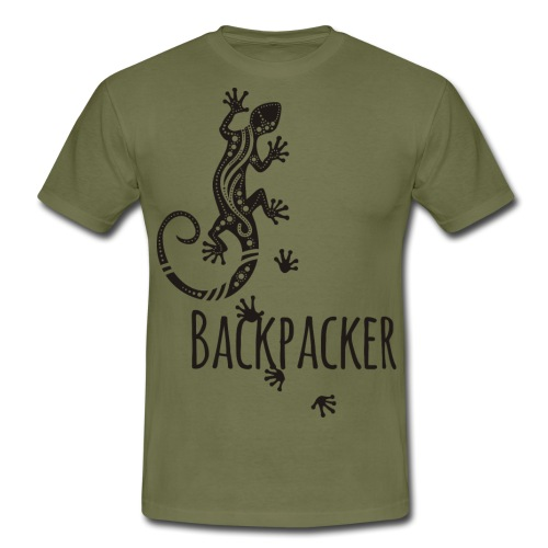 Backpacker - Running Ethno Gecko 1 - Männer T-Shirt