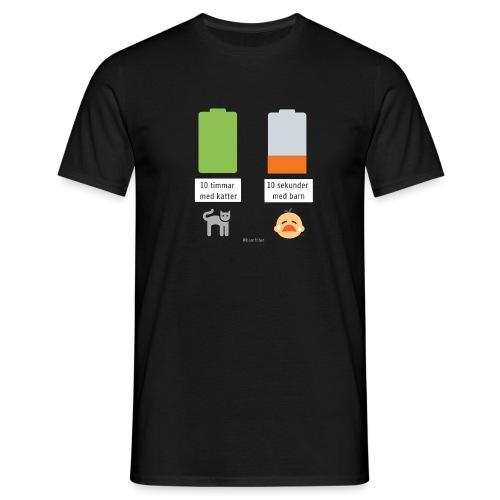 Livsbatteriet KATT - T-shirt herr