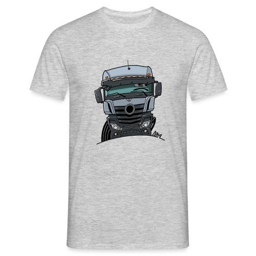 0807 M Truck grijs - Mannen T-shirt