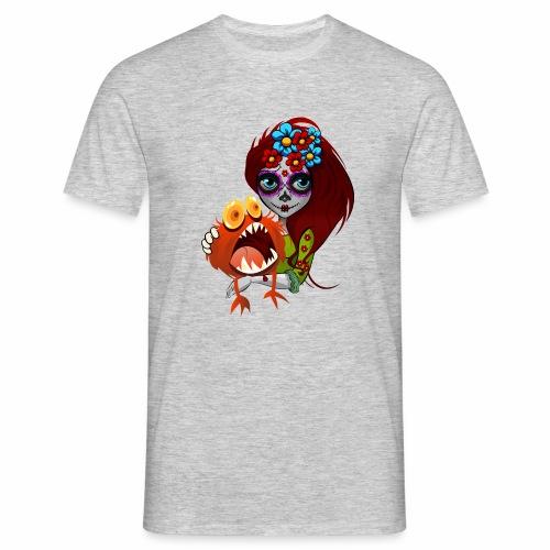 Catrina con Monstruo - Camiseta hombre