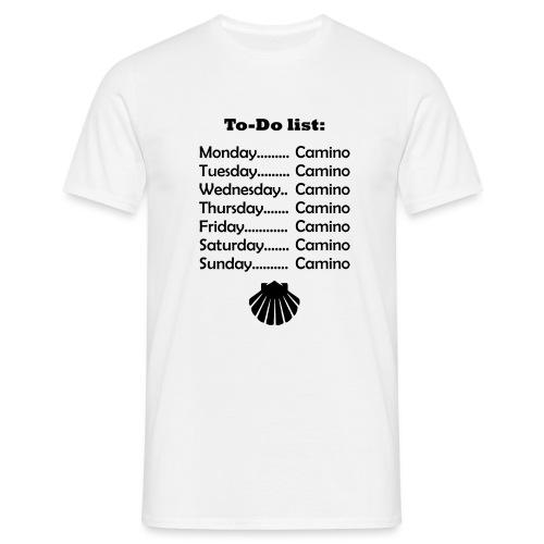 To-do list: Camino - Herre-T-shirt