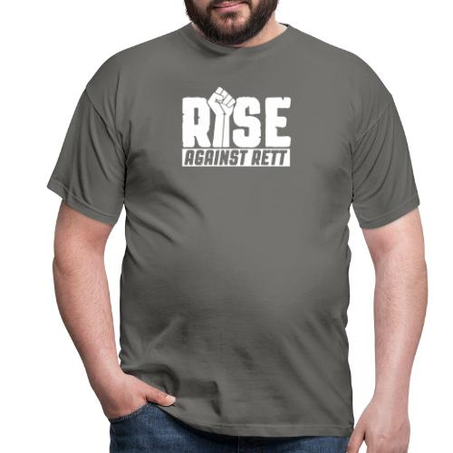 Rise against Rett - Men's T-Shirt