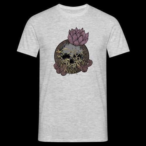 Skull tête de mort et fleur de lotus - T-shirt Homme