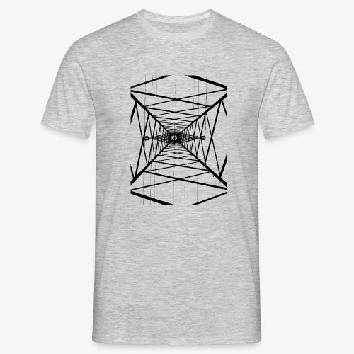 Hochmast V2 Schwarz - Männer T-Shirt