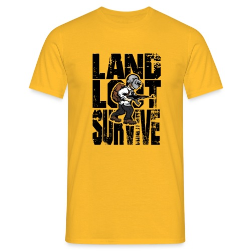Land Loot Survive - T-shirt herr