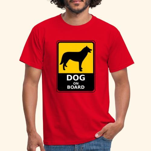 cartel perro - Camiseta hombre