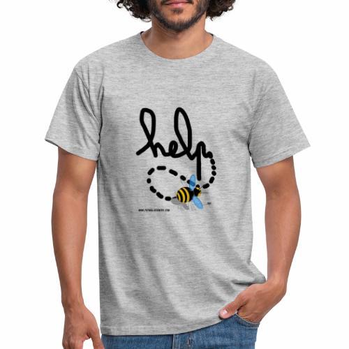 Help abeille texte noir - T-shirt Homme