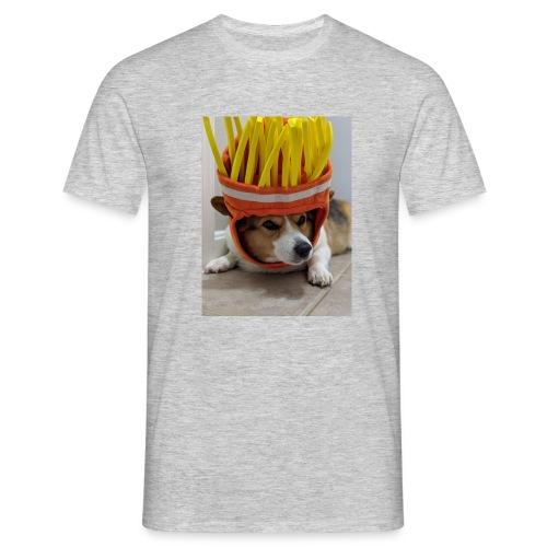 dog with c00l hat - Koszulka męska