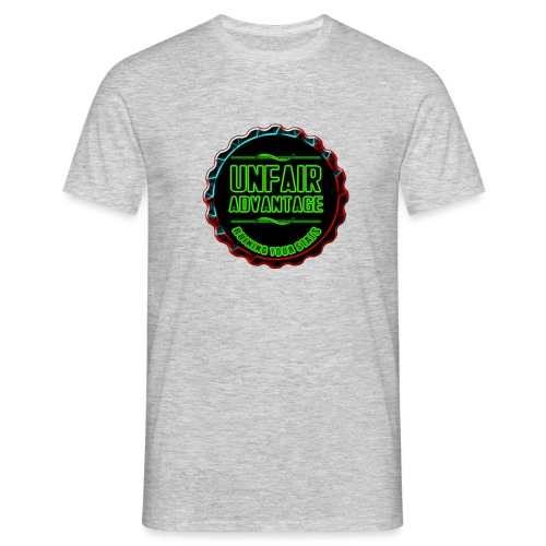 UFAV Back and Green Logo - Men's T-Shirt