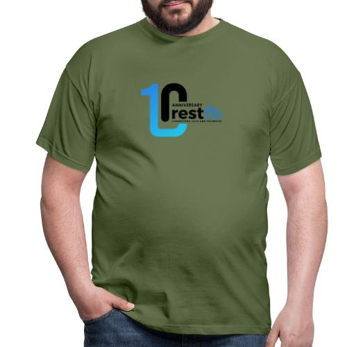 10years RestFB - anniversary logo - Men's T-Shirt