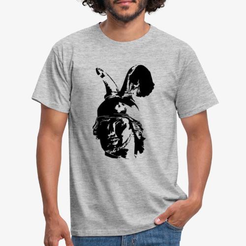 Kopf des Hermannsdenkmals - einfarbig, schlicht - Männer T-Shirt