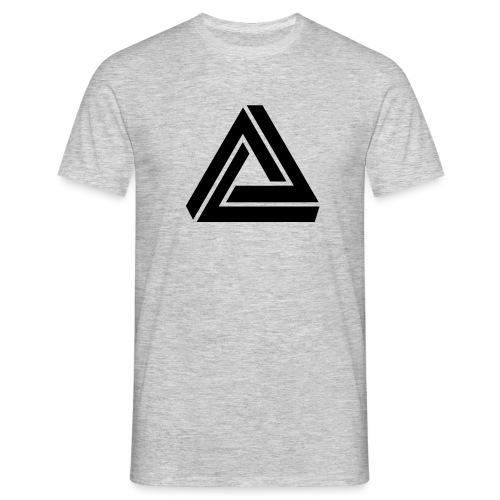 Tribar Dreieck, Unmögliche Figur Optische Illusion - Männer T-Shirt