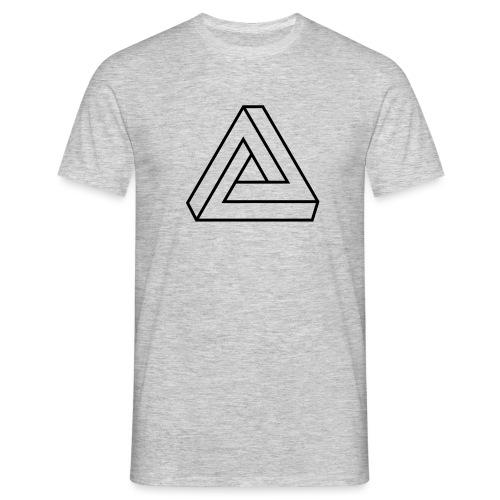 Penrose Dreieck Unmögliche Figur, Illusion, Escher - Männer T-Shirt