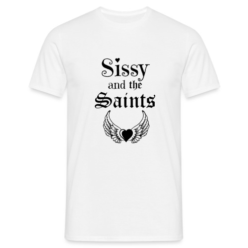 Sissy & the Saints zwarte letters - Mannen T-shirt