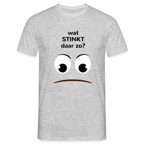 Grappige Rompertjes: Wat stinkt daar zo - Mannen T-shirt