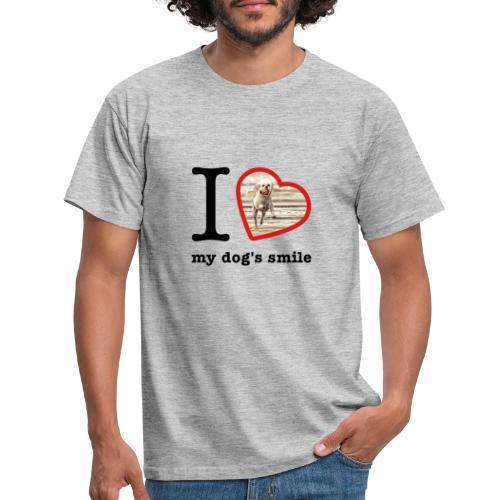 I love my dog's smile :) dog smile - Men's T-Shirt