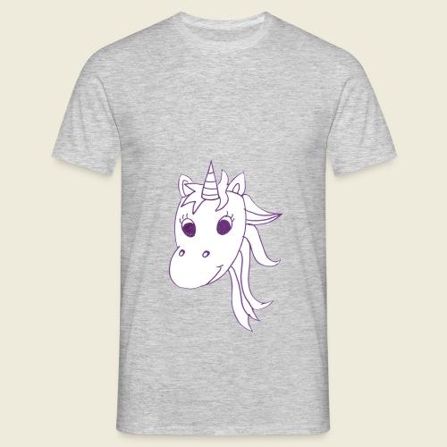 Einhorn Unicorna einfarbig weiß lila - Männer T-Shirt
