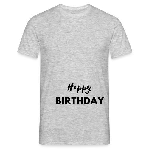 happy birthday svg - T-shirt Homme