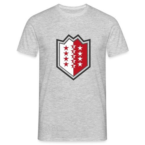 T-Shirt avec drapeau valaisan - Valais - Wallis - T-shirt Homme