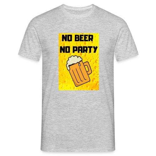 No beer no party - Maglietta da uomo