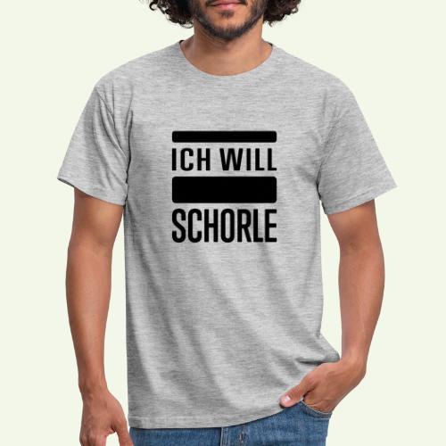 Ich will Schorle schwarz - Männer T-Shirt