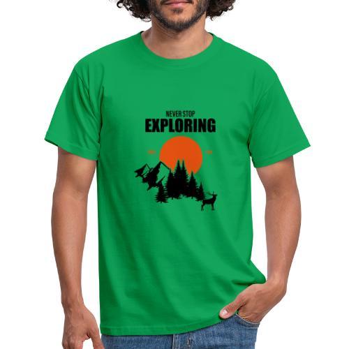 NEVER STOP EXPLORING - Maglietta da uomo