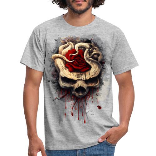 skull rose - Camiseta hombre