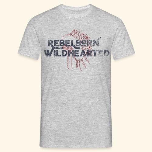 rebelbornwildusedsmall2 png - Herre-T-shirt