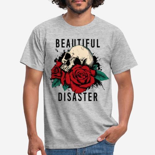 Schädelrosen - Männer T-Shirt