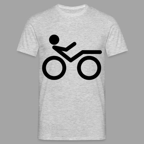 Recumbent bike black 2 - Miesten t-paita