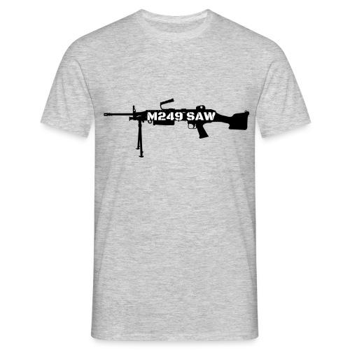 M249 SAW light machinegun design - Mannen T-shirt
