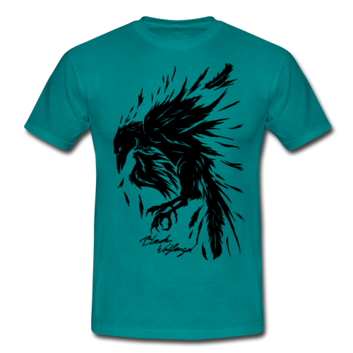 raven_tribal - Männer T-Shirt