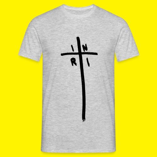 Cross - INRI (Jesus of Nazareth King of Jews) - Men's T-Shirt