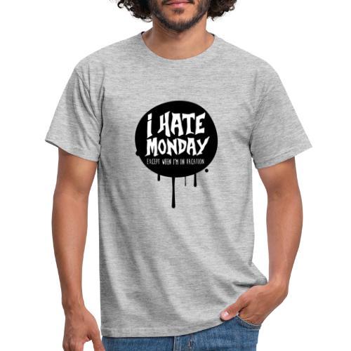 je déteste le lundi - T-shirt Homme