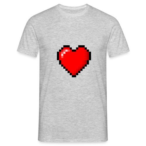 8bit heart - Maglietta da uomo