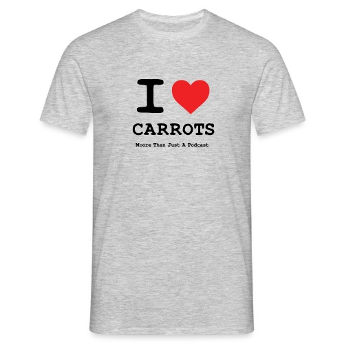 I LOVE CARROTSa png - Men's T-Shirt