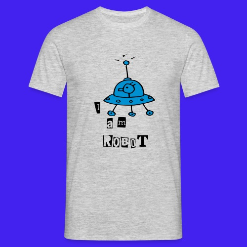 robot 3 lettering - Men's T-Shirt