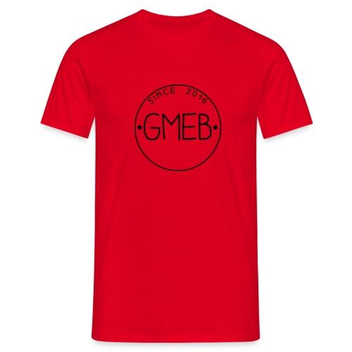 doorschijnend logo ZWART - Mannen T-shirt