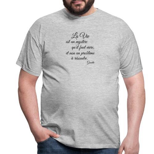 La vie et cest mysteres - Männer T-Shirt