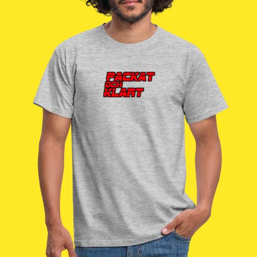 Packat & Klart - Red Logo - T-shirt herr